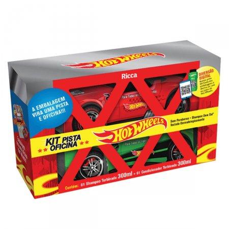 Kit Shampoo e Condicionador Ricca Pista Oficina Hot Wheels Turbinado