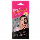 Máscara Facial Ricca Preta Para Limpeza da Pele