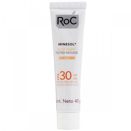 Protetor Solar Roc Minesol Actif Unify Tinted Mousse Light FPS30