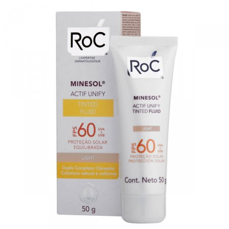 ROC MINESOL ACTIF UNIFY TINTED FLUID LIGHT FPS 60 50G