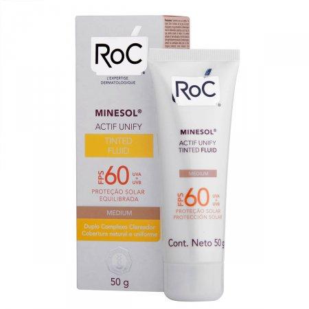 Protetor Solar Roc Minesol Actif Unify Tinted Fluid Médium FPS60