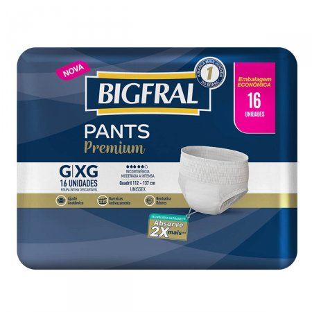Roupa Íntima Bigfral Pants Premium Tamanho G/XG