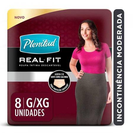 PLENITUD FRALDA ACTIVE FEMININA COTTON G/XG COM 8 UNIDADES