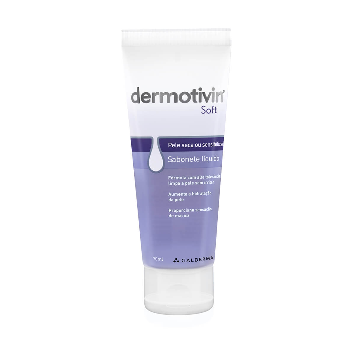 Sabonete Líquido Facial Dermotivin Soft Pele Seca com 70ml 70ml