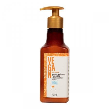 Sabonete Líquido para Mãos Vegan by Needs Vanilla + Pitanga 250ml   Drogasil.com Foto 1