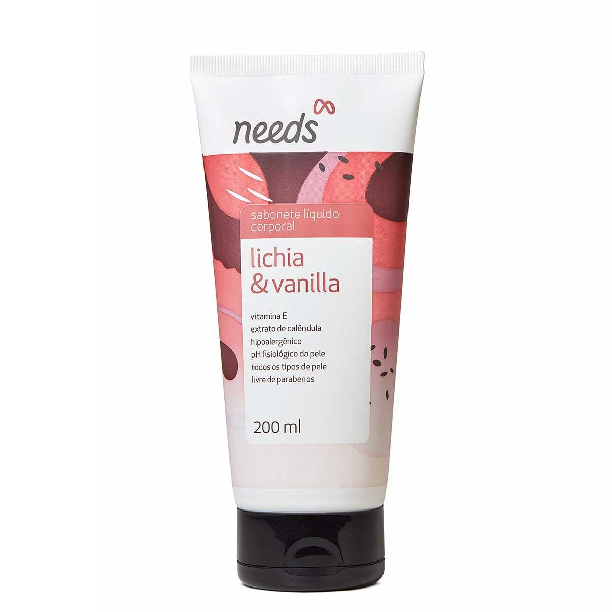 Sabonete Líquido Needs Lichia e Vanilla com 200ml 200ml