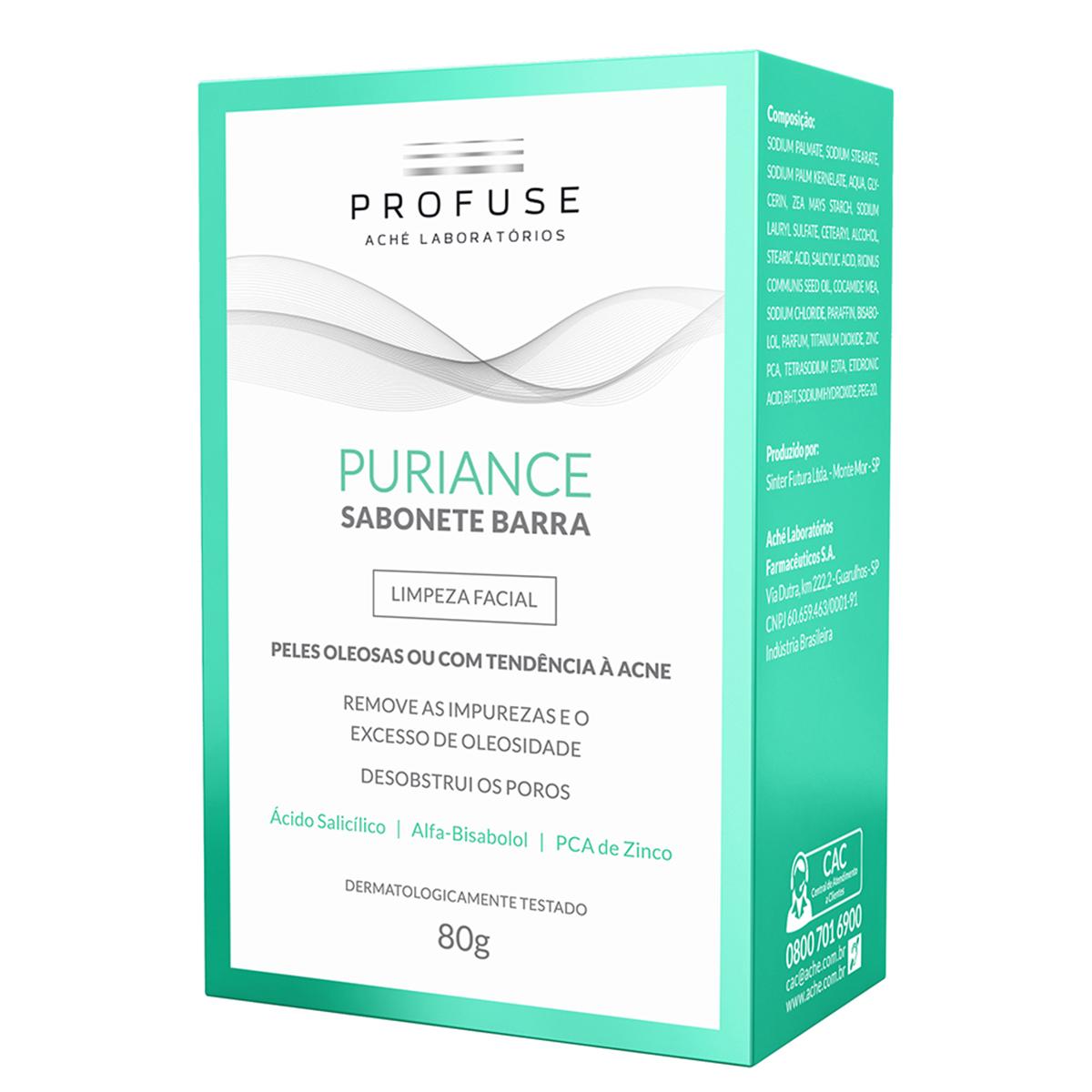 Sabonete Facial em Barra Profuse Puriance Pele Oleosa a Acneica com 80g 80g