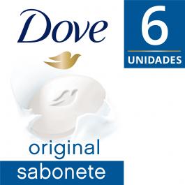 Kit Sabonete em Barra Dove Original com 6 unidades