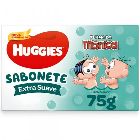 HUGGIES SABONETE BARRA SUAVE 75G