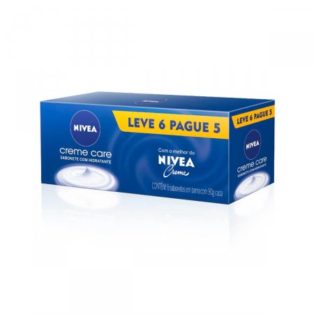 Kit Sabonete em Barra Nivea Creme Care
