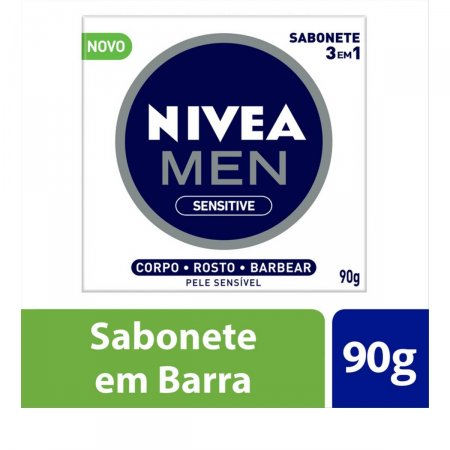 NIVEA MEN SABONETE SENSITIVE 3EM1 90G