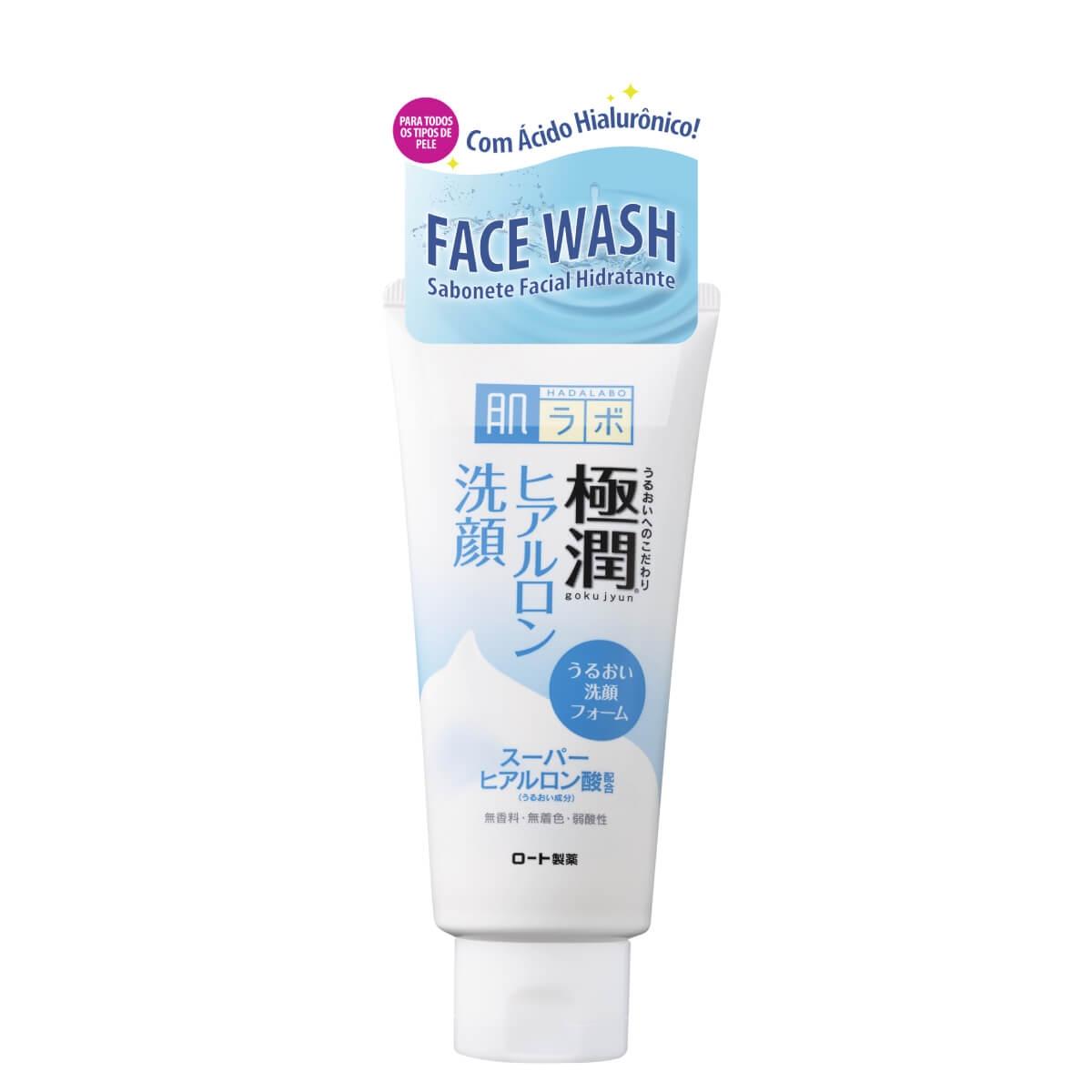 Sabonete Hidratante Facial Hada Labo Gokujyun Face Wash 100g