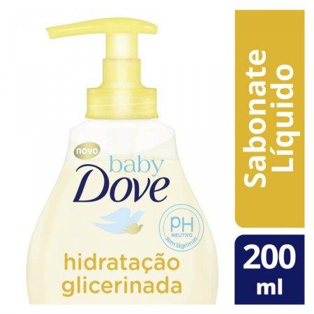 DOVE BABY SABONETE LIQUIDO INFANTIL HIDRATACAO GLICERINADA DA CABECA AOS PES 200ML
