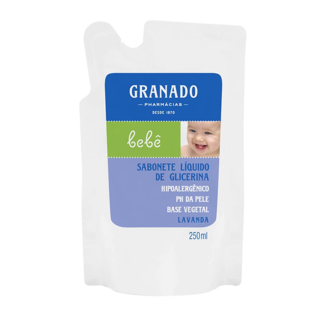 Refil Sabonete Líquido Granado Bebê Lavanda 250ml