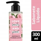 LOVE BEAUTY AND PLANET SABONETE LIQUIDO CARING MOISTURE MAOS E CORPO MANTEIGA DE MURUMURU & ROSAS 300ML