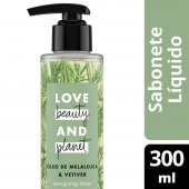 LOVE BEAUTY AND PLANET SABONETE LIQUIDO ENERGIZING DETOX MAOS E CORPO OLEO DE MELALEUCA & VETIVER 300ML