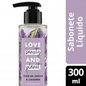 LOVE BEAUTY AND PLANET SABONETE LIQUIDO RELAXING RAIN MAOS E CORPO OLEO DE ARGAN & LAVANDA 300ML