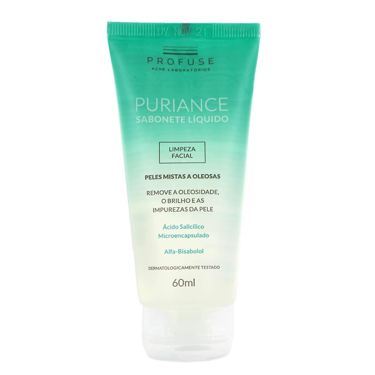 Sabonete Líquido Facial Profuse Puriance Pele Mista a Oleosa com 60ml 60ml