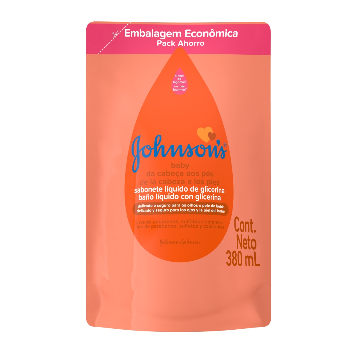 Sabonete Líquido Refil Johnson's Baby Cabeça aos Pés Johnson e Johnson 380ml