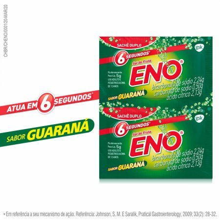 ENO SAL DE FRUTAS GUARANA 2 ENVELOPES 5G CADA