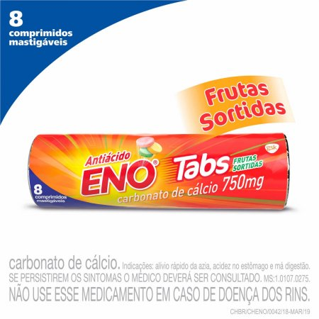 ENO SAL DE FRUTAS TABS  COM 8 PASTILHAS