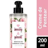LOVE, BEAUTY AND PLANET CREME PARA PENTEAR CURLS INTENSIFY MANTEIGA DE MURUMURU & ROSA FRASCO 200ML
