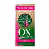 Kit Ox Plants Hidrata & Dá Brilho Shampoo com 375ml + Condicionador com 170ml