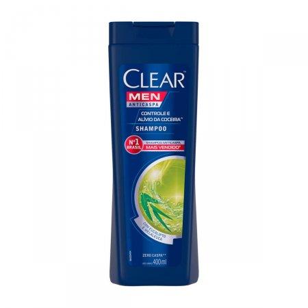 Shampoo Anticaspa Clear Men Controle e Alívio da Coceira 400ml | Drogasil.com Foto 1