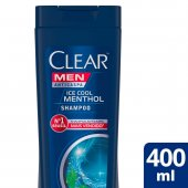 CLEAR MEN SHAMPOO ANTI CASPA ICE COOL MENTOL 400ML