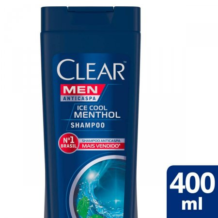 Shampoo Clear Anticaspa Men Ice Cool Menthol 400ml | Drogasil.com Foto 2