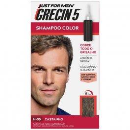 Shampoo Color Grecin 5 Just For Men H-35 Castanho