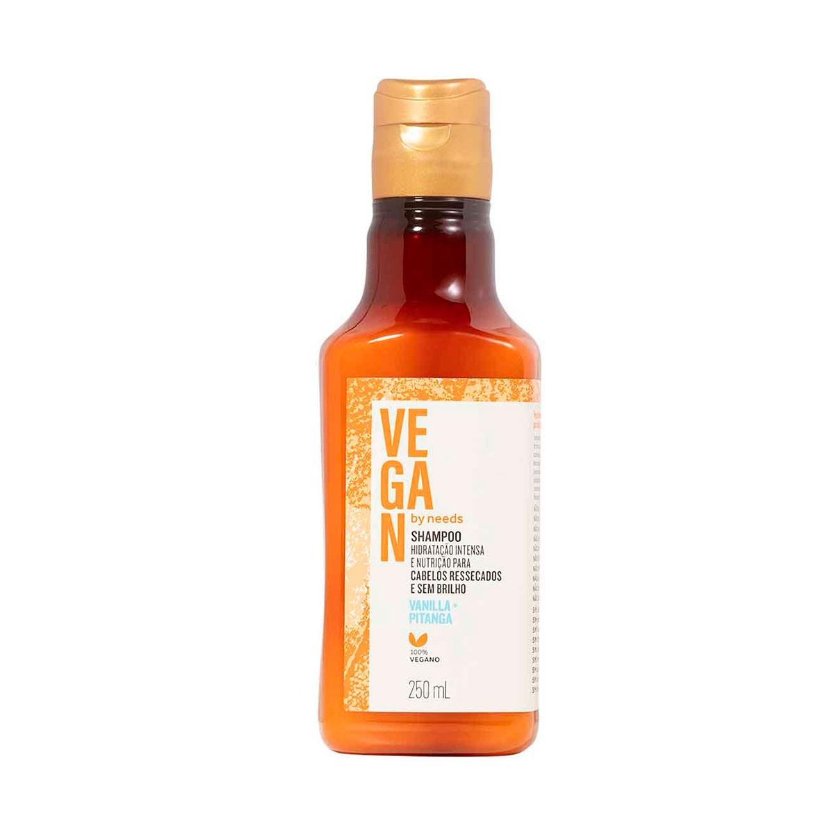 Shampoo Vegan by Needs Cabelos Ressecados Vanilla + Pitanga 250ml