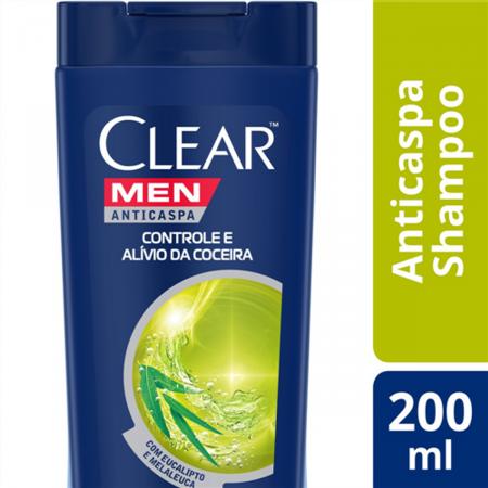 Shampoo Anticaspa Clear Men Controle e Alívio da Coceira