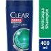 Shampoo Anticaspa Limpeza Diária 2 em 1 Clear Men 400ml | Drogasil.com Foto 1