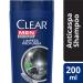Shampoo Anticaspa Limpeza Profunda Clear Men 200ml | Drogasil.com Foto 1
