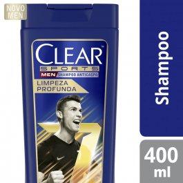 Shampoo Anticaspa Clear Men Sports Limpeza Profunda com 400ml
