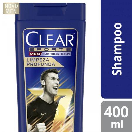 Shampoo Anticaspa Clear Sports Men Limpeza Profunda