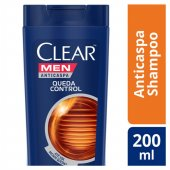CLEAR MEN SHAMPOO ANTI CASPA QUEDA CONTROL 200ML