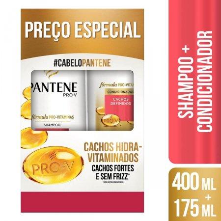 PANTENE KIT SHAMPOO 400ML + CONDICIONADOR 175ML CACHOS