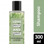 LOVE, BEAUTY AND PLANET SHAMPOO ENERGIZING DETOX OLEO DE MELALEUCA & VETIVER FRASCO 300ML