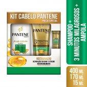 Kit Pantene Restauração Shampoo + Condicionador + Ampola