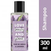 LOVE, BEAUTY AND PLANET SHAMPOO SMOOTH AND SERENE OLEO DE ARGAN & LAVANDA FRASCO 300ML