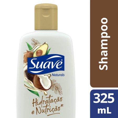 SUAVE SHAMPOO SHAMPOO HIDRATACAO E NUTRICAO OLEO DE COCO E ABACATE SUAVE NATURALS 325ML