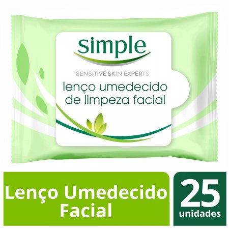 SIMPLE LENCOS UMEDECIDOS WIPES FACIAL CLEANSING 25 UNIDADES
