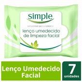 SIMPLE LENCOS UMEDECIDOS WIPES FACIAL CLEANSING 7 UNIDADES