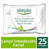 SIMPLE LENCOS UMEDECIDOS WIPES FACIAL MICELAR 25 UNIDADES