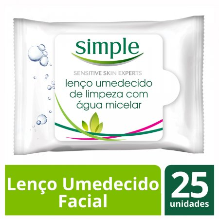 SIMPLE LENCOS UMEDECIDOS WIPES FACIAL MICELAR 25 UNIDADES