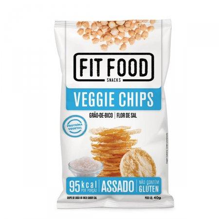 Snack Fit Food Veggie Chips Grão de Bico, Flor de Sal