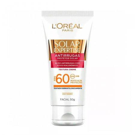 Protetor Solar Facial L'Oréal Expertise Antirrugas FPS60 50g | Drogasil.com Foto 1