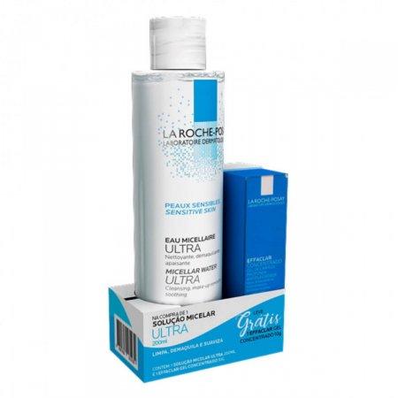 Solução Micelar La Roche Posay Ultra + Gel de Limpeza Concentrado Effaclar